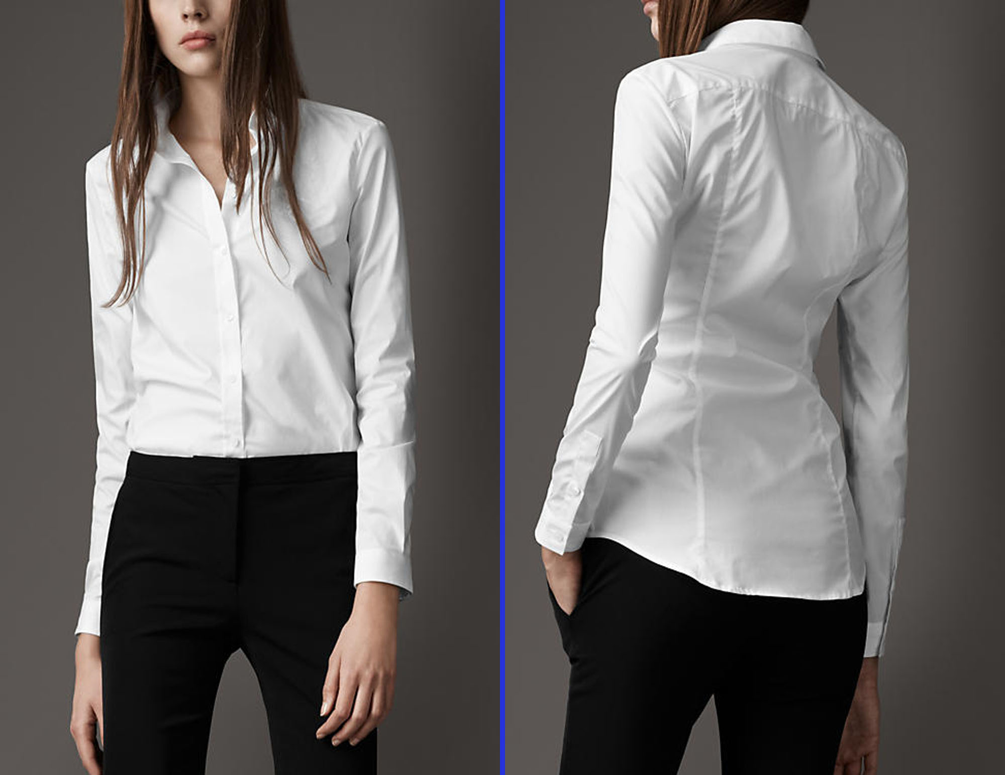 Fitted White Dress Shirts